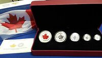 2015 Canada Fine Silver Fractional Set: The Maple Leaf! 5 pc 0.9999 fine silver!