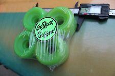 Neon Green Soft Blanks OG 60mm x 43mm 1980's W4 Vintage Set 4 SKATEBOARD WHEELS