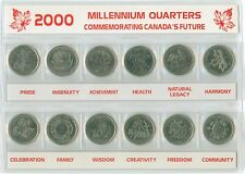 2000 Canada Future Quarter 25 Cent Set 12 Coins in Holder
