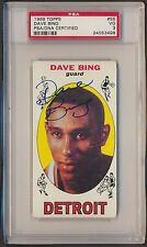 1969 Topps  DAVE BING  HOF Signed RC #55  PSA/DNA 3 Rookie Auto  498