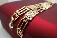 Bracelet de montre en or jaune 18K massif pour femme Bracelet 7.5 '19cm