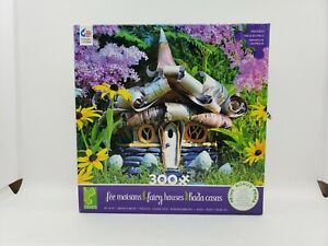 """CEACO PUZZLE FAIRY HOUSES 300 OVERSIZED PIECES & POSTER 19"""" x 19""""  USA"""