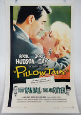 PILLOW TALK - 1 SHEET LINEN POSTER 1959 - DORIS DAY - ROCK HUDSON - TONY RANDALL