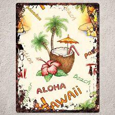 PP0214 Rust Vintage Aloha Hawaii Sign Home Shop Cafe Room Wall Interior Decor