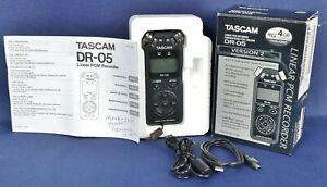 Tascam DR-05 Linear PCM Recorder w/ Original Box & Accessories