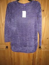 Next Purple Jumper Chenille Tunic Size 8 Brand New with tag