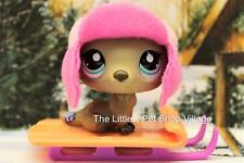 LITTLEST PET SHOP ❄ BROWN RIVER OTTER #1609 ❄ NEW ❄ SPECIAL EDITION w SLED & HAT