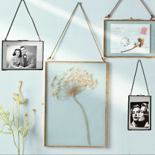 Antique Wall-mount Clear Glass Hanging Frame Photos Frames f/ Home Ornament