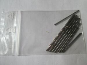 lot 10 forets argenté  hss assortiment 1mm ,1.5mm ,2mm ,2.5mm ,3mm