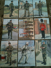 Set x 9 Military Postcards 2nd Royal Regiment of Fusiliers by Alix Baker