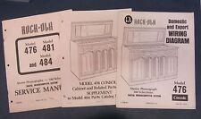 Rock-ola 476 Cosole Original Jukebox Manual Wiring Diagram Parts Catalog
