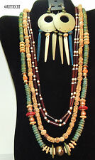 Wooden Necklaces and Earring Set One Low Price See All and Each