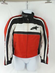 Alpinestars Stella Motorcycle Jacket, Small, Womens; Red, Black & white