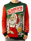 Ugly Christmas Party Sweater Unisex Men's Santa's Craft Shop Beer Drinking