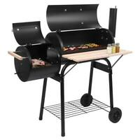 Outdoor Durm Charcoal Patio Backyard Meat Cooker Smoker Thermometer BBQ Grill