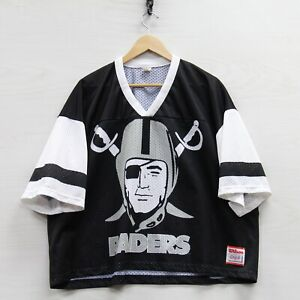 Vintage Los Angeles Raiders Wilson Mesh Practice Jersey Size 2XL Black NFL