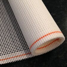 Interlock Needlepoint Canvas White Orange line Zweigart 1 yd Choose Mesh Size