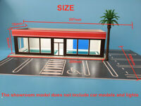 Outland Models Railway Scenery Car Dealership Building /Cars Showroom 1:64 Scale