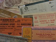 More details for tickets from friendlies,pre-season tournaments,testimonials etc..some rare!