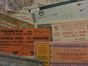 Tickets From Friendlies,Pre-Season Tournaments,Testimonials etc..Some Rare!