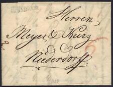 Austria 1823 Innsbruk To Wiederoff Folded Letter With Manuscript Inside
