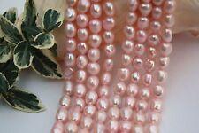 BR393 Zuchtperlen Strang Süßwasser Perlen Schmuck Kette Halskette 8-9mm barock