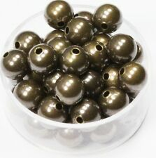 HOLE 1.5 MM LK-B040-01 4 MM BRASS ROUND SEAMLESS HOLLOW BRIGHT BEADS 200 PCS