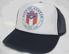 Austin Texas Trucker Hat  mesh hat snapback hat black