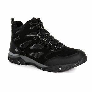 Regatta Men's Holcombe IEP Waterproof MID Hiking Boots - Black Granite
