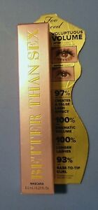 Too Faced Better Than Sex Mascara 0.27 oz  Full Size NEW NEVER OPENED
