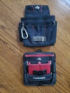 Lot Of 2 Husky Tool Pouches Tool Belt Small Black Red