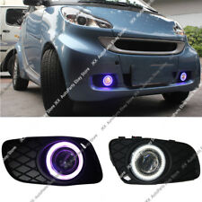 2x DRL Fog Lamp+COB Angel Eye Bumper Frame Lens For Smart Fortwo 2008-2012