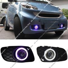2x DRL Fog Lamp+COB Angel Eye Bumper Frame Lens For Smart Fortwo 2008-2012