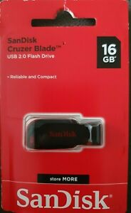SanDisk Cruzer Blade 16GB USB Memory Stick Flash Pen Drive