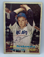 2020 Historic Autographs Moe Drabowsky Cubs 1957 Topps Auto Sticker Authentic