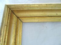 "2 Antique Fits 10 X 20"" LEMON Gold GILT Picture Frames Wood Fine Art VICTORIAN"