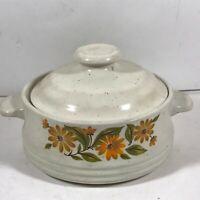 Vintage CAPRI Bake Serve 'n Store Stoneware Mini Covered Bowl