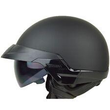 L XL XXL ~ PGR B20 MATTE BLACK Motorcycle DOT Open Face Half Helmet Cruiser