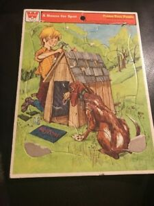 A House for Spot Vintage Whitman Frame Tray Puzzle 1973