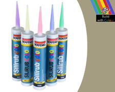 Jasmine Cream Colour Silicone Sealant Soudal 310ml Indoor & Outdoor use Home DIY