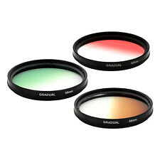 58mm Graduated Gradual density Color Camera lens Filter KIT Red Brown Green