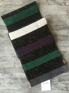 PAUL SMITH DONEGAL STRIPE SCARF MADE IN SCOTLAND RETAIL BNWT