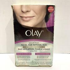 Olay Smooth Finish Facial Hair Removal Duo Medium to Coarse (Damaged Opened Box)
