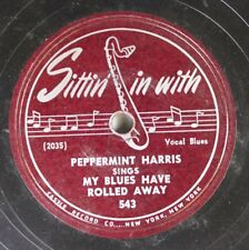 Hear! Blues 78 Peppermint Harris - My Blues Have Rolled Away / Raining In My Hea