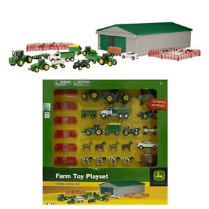 70Pc John Deere Animal Diecast Tractor Truck Shed Vehicle Set Kids Play Toy 5y+