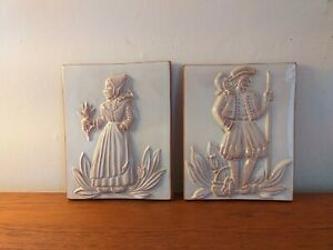 VINTAGE QUIMPER WALL PLAQUES 1990 CELEBRATING 300 YEARS OF THE FACTORY X 2