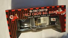 FIRE CHIEF 1957 CHEVY BEL AIR DIECAST CHAIN DRIVEN PEDAL CAR GEARBOX LIMITED ED