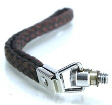 Original Paillard Bolex 8mm Movie Camera Leather Woven Black & Red Wrist Strap