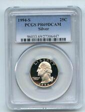 1994 S 25C Silver Washington Quarter Proof PCGS PR69DCAM