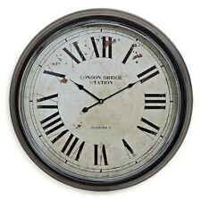 Horloge Murale XXL 60cm métal Londres - VINTAGE NOSTALGIE Grande Station montre